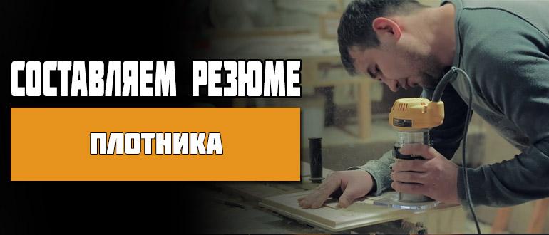 Резюме плотника